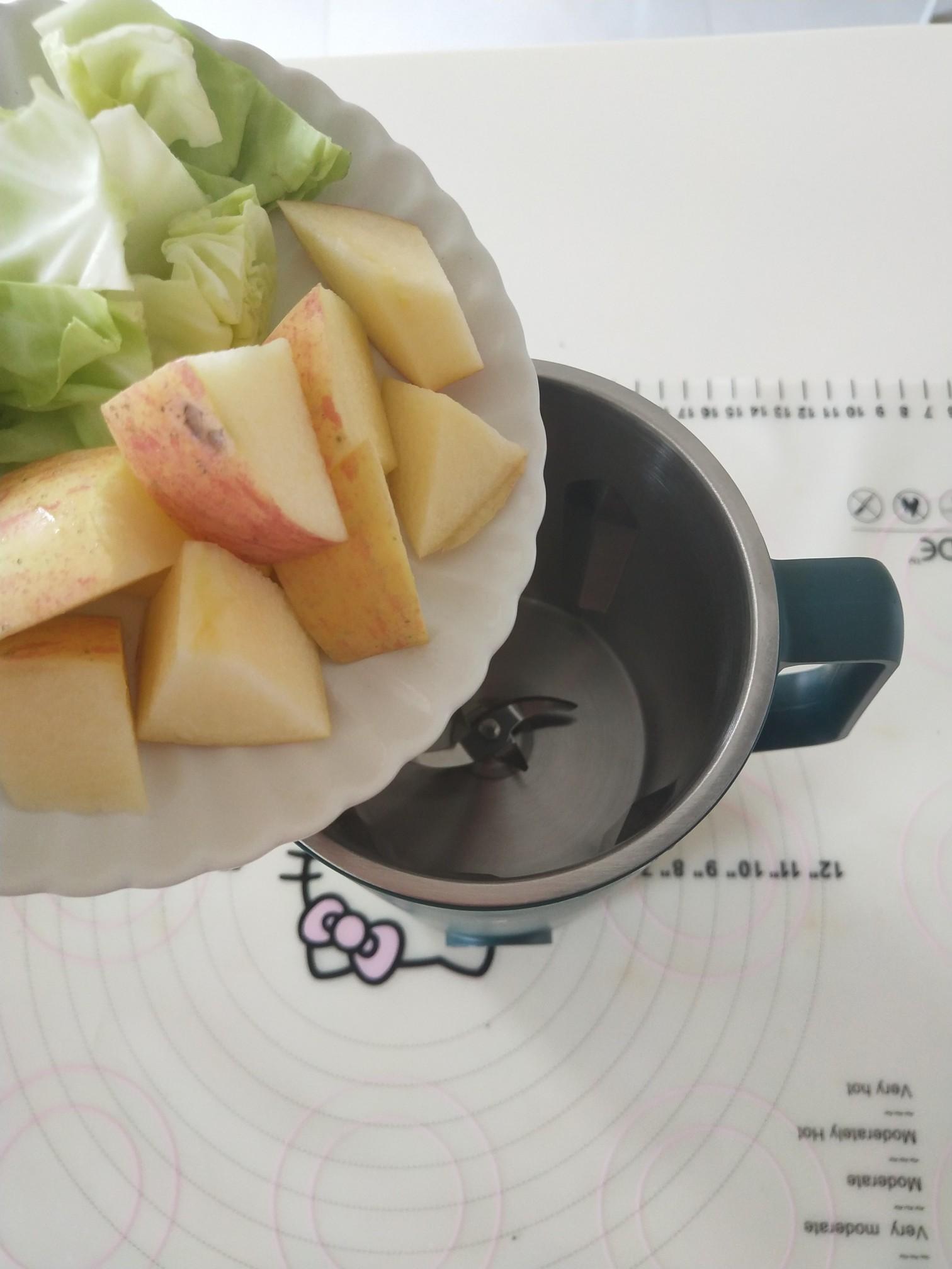 圆白菜苹果汁的做法图解
