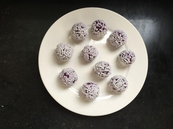 水晶紫薯球的步骤