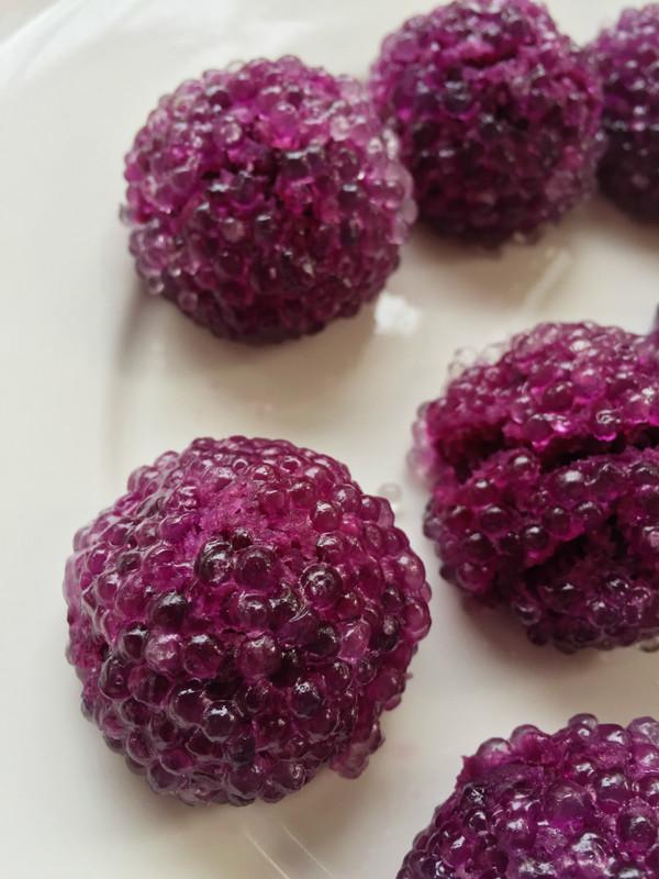 水晶紫薯球成品图