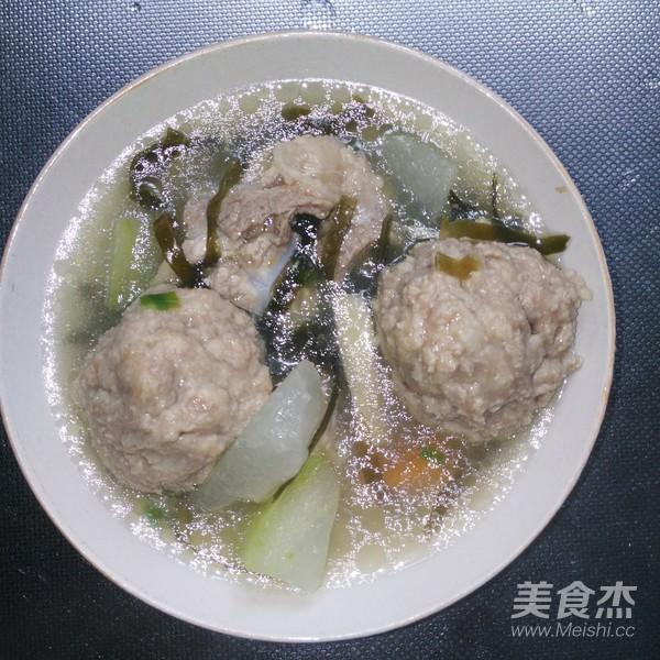 冬瓜肉圆汤成品图