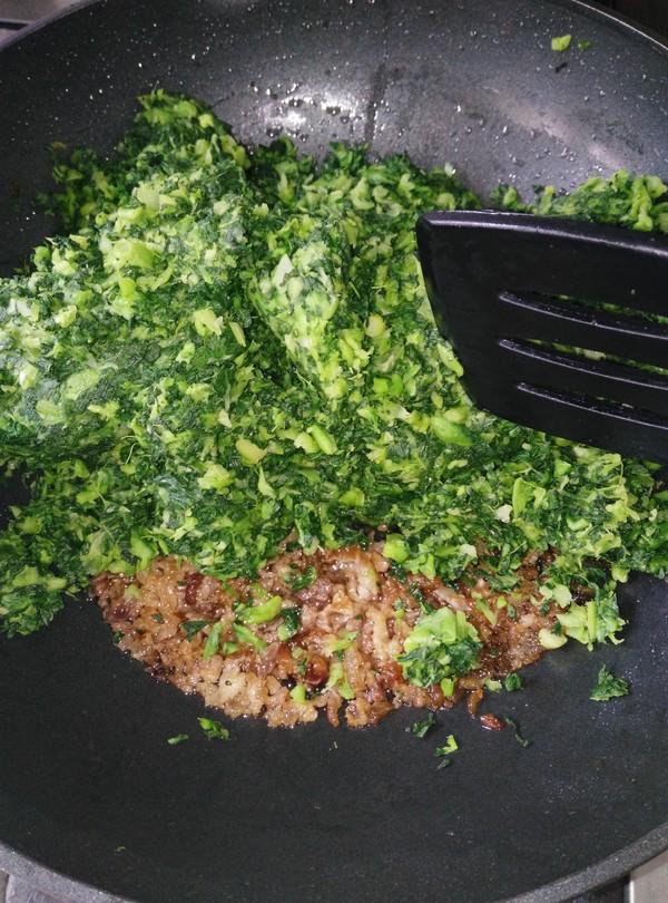 青菜馅的糯米粉包圆子的简单做法