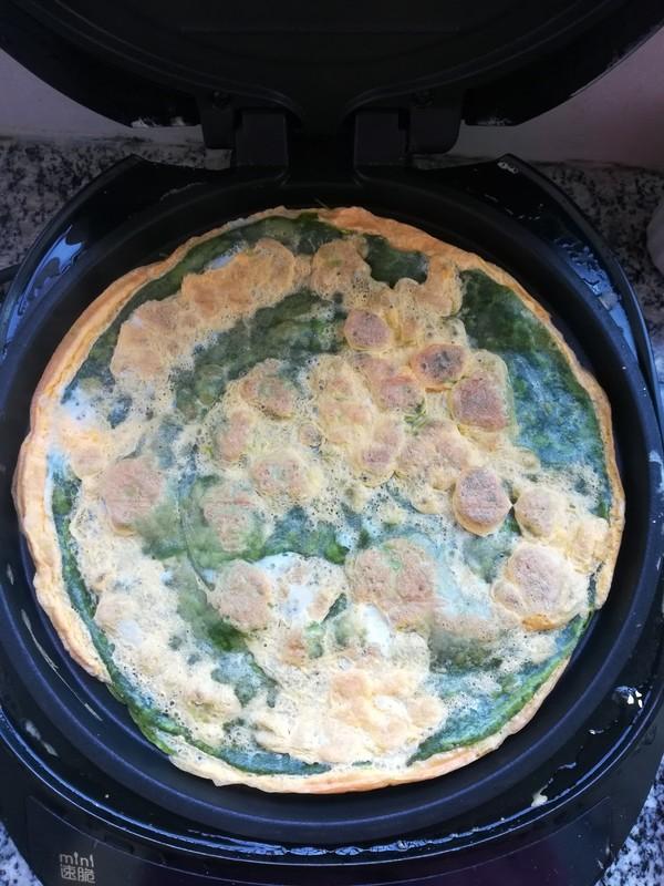 春天不可缺少的一抹绿,菠菜汁蛋饼的步骤