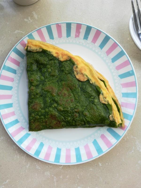 春天不可缺少的一抹绿,菠菜汁蛋饼成品图