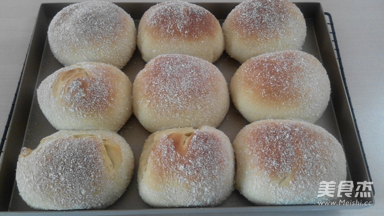椰蓉果酱面包的制作方法