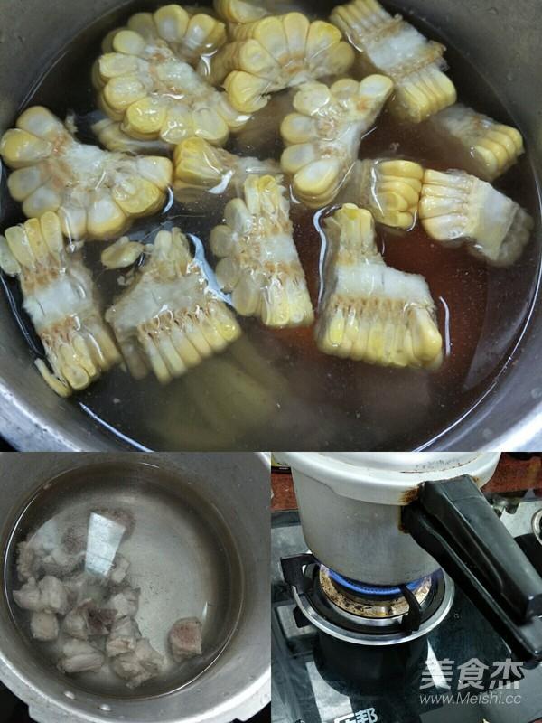 玉米胡萝卜炖排骨的家常做法
