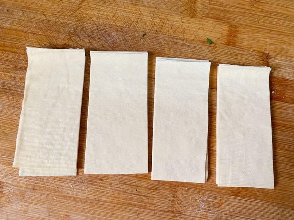 豆腐皮韭菜卷的做法图解