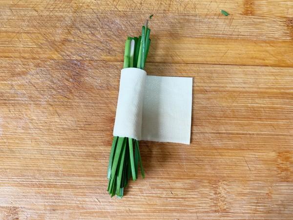 豆腐皮韭菜卷的家常做法