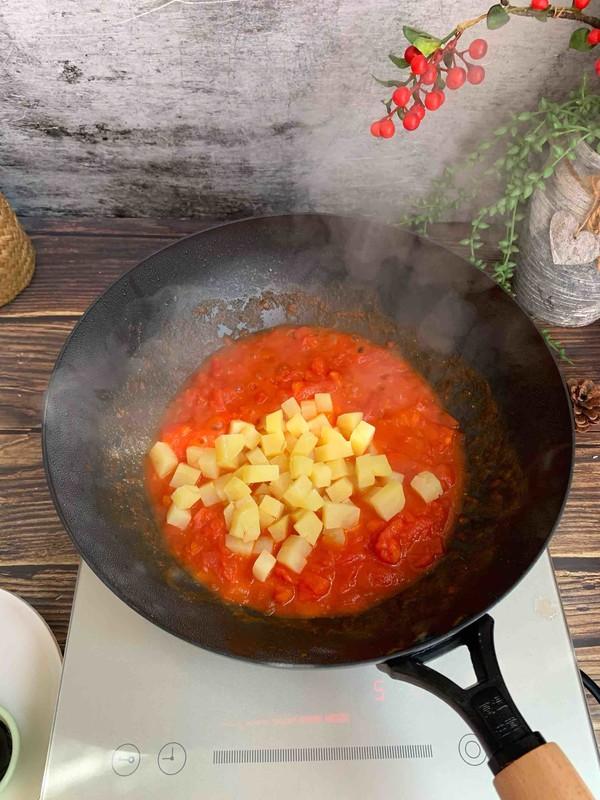 番茄土豆浓汤面的做法大全