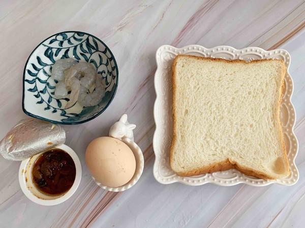 鲍鱼辣酱虾仁滑蛋三明治的做法大全