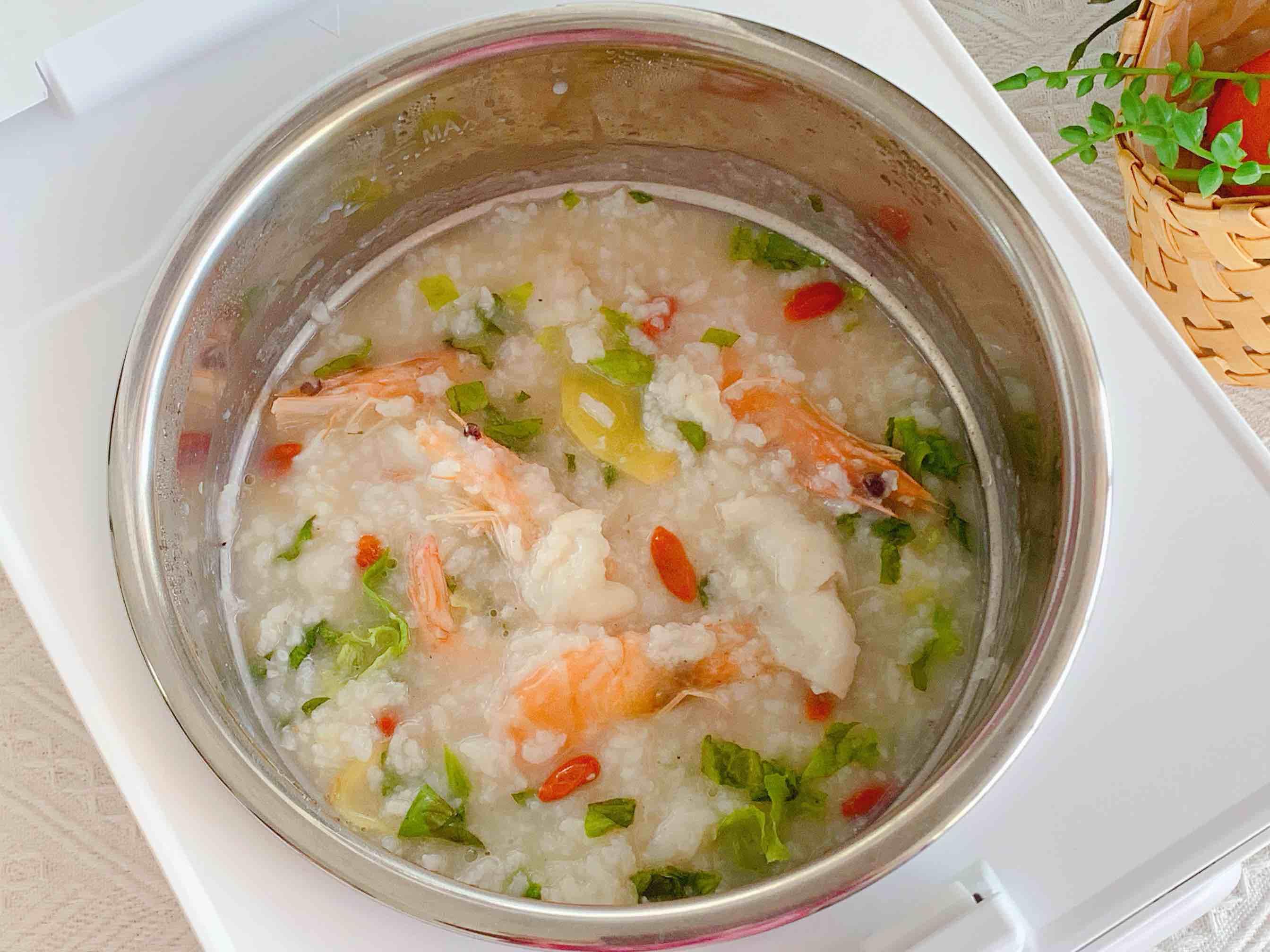 鲜虾鱼片粥怎么炒
