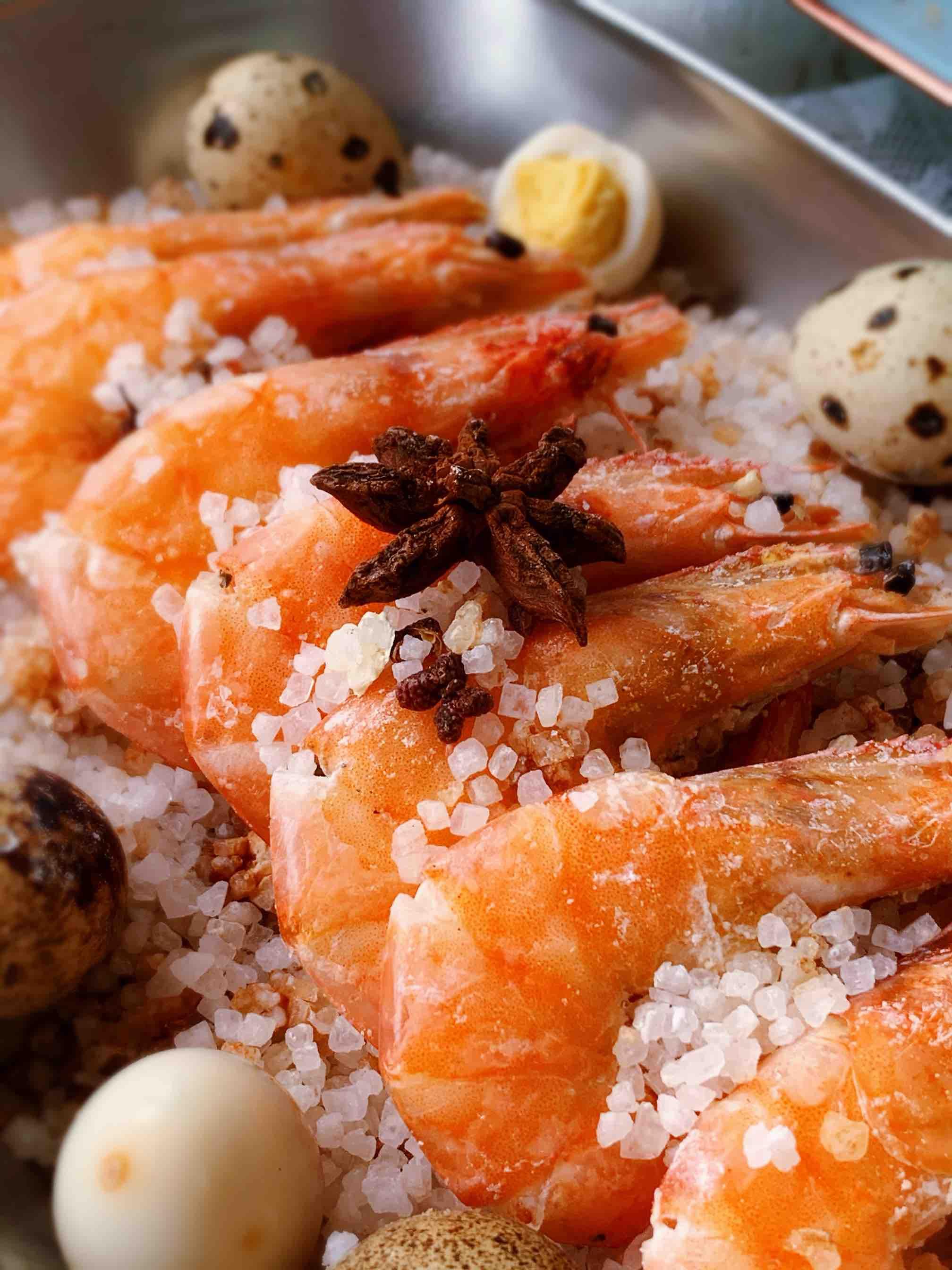 只用一包盐,做一锅盐焗虾成品图