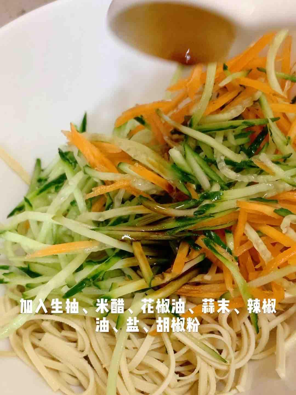 凉拌豆腐丝的简单做法