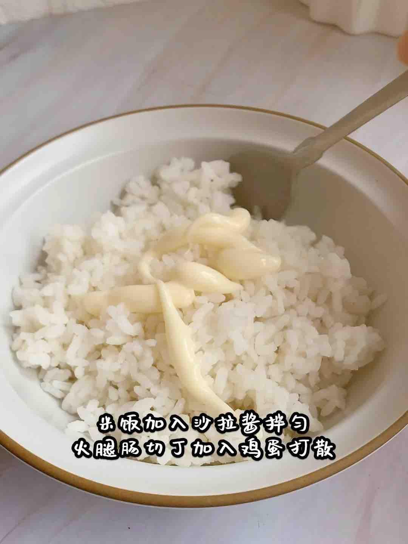 爆浆芝士鸡蛋米饭堡的做法大全