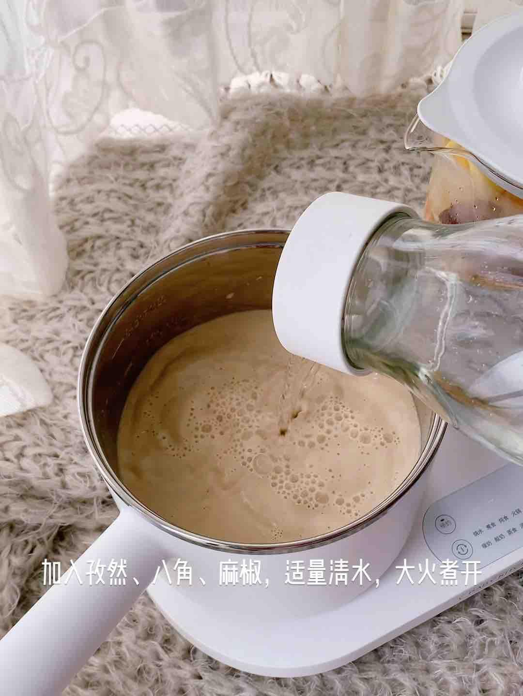 无油牛奶麻辣烫的步骤