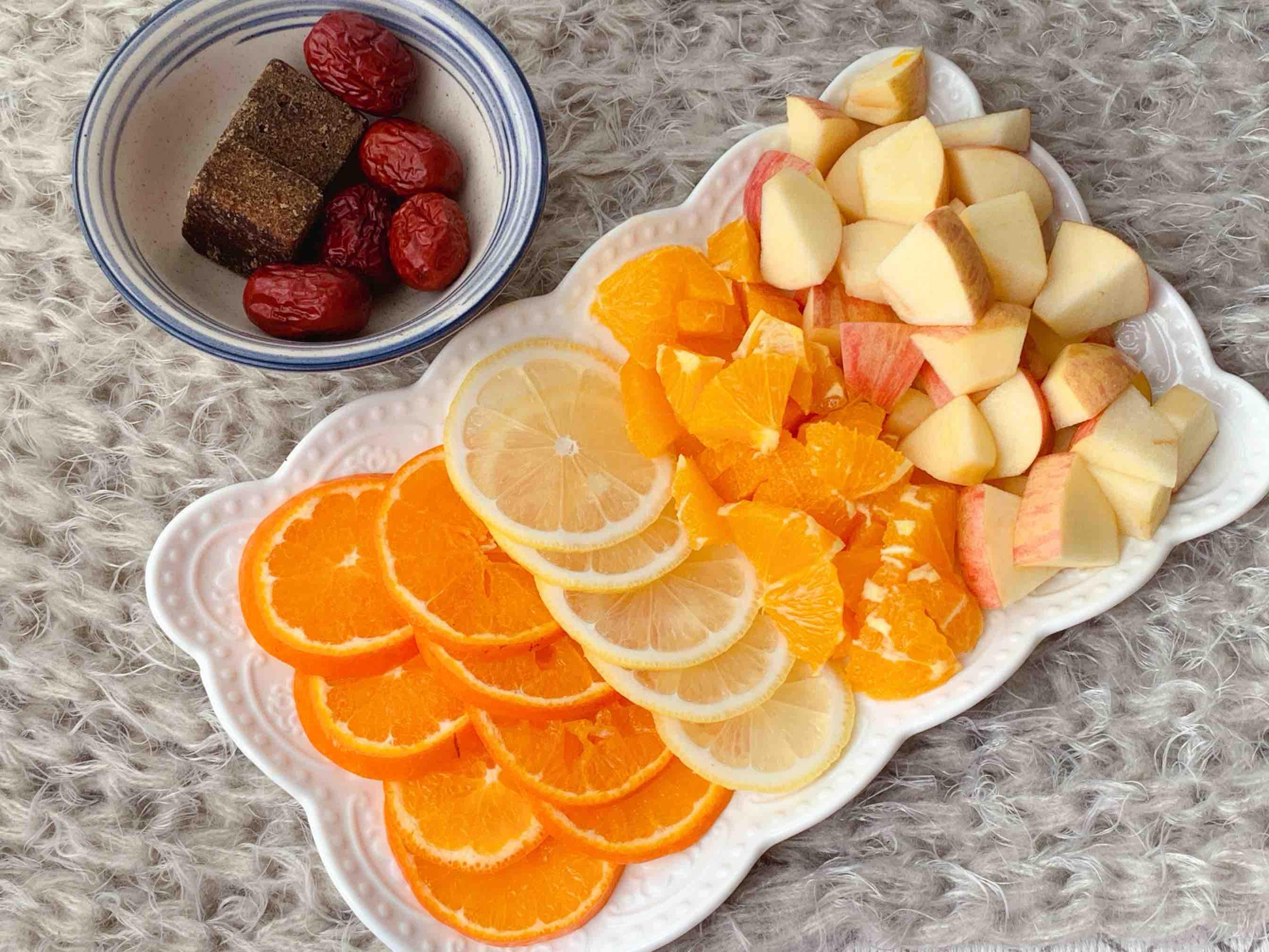 巨刷脂的苹果香橙水果茶的步骤