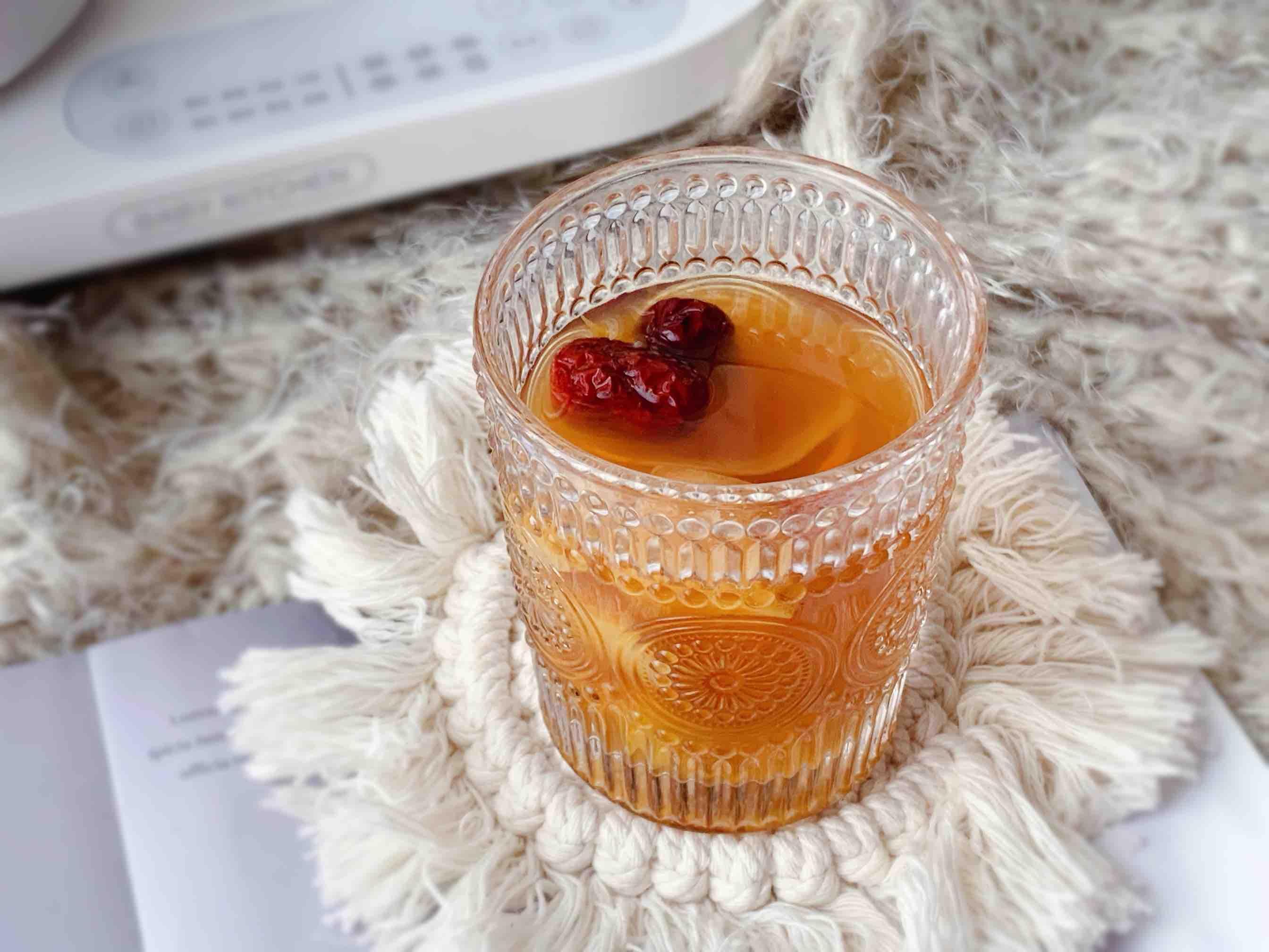 巨刷脂的苹果香橙水果茶成品图