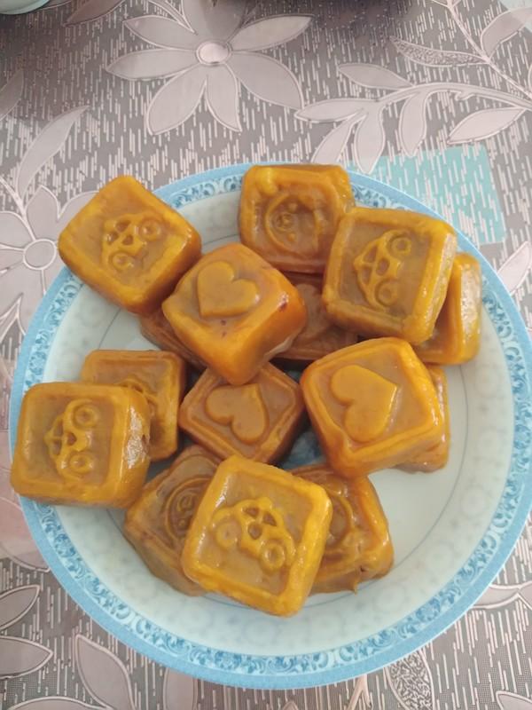红豆沙馅南瓜饼的制作