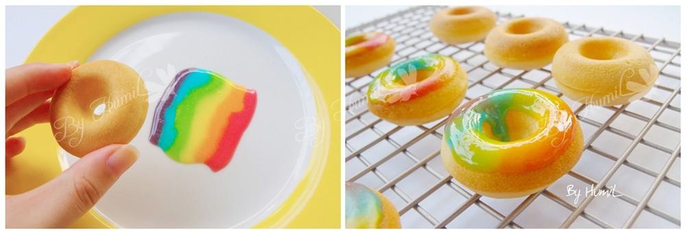 彩虹柠檬甜甜圈怎么吃