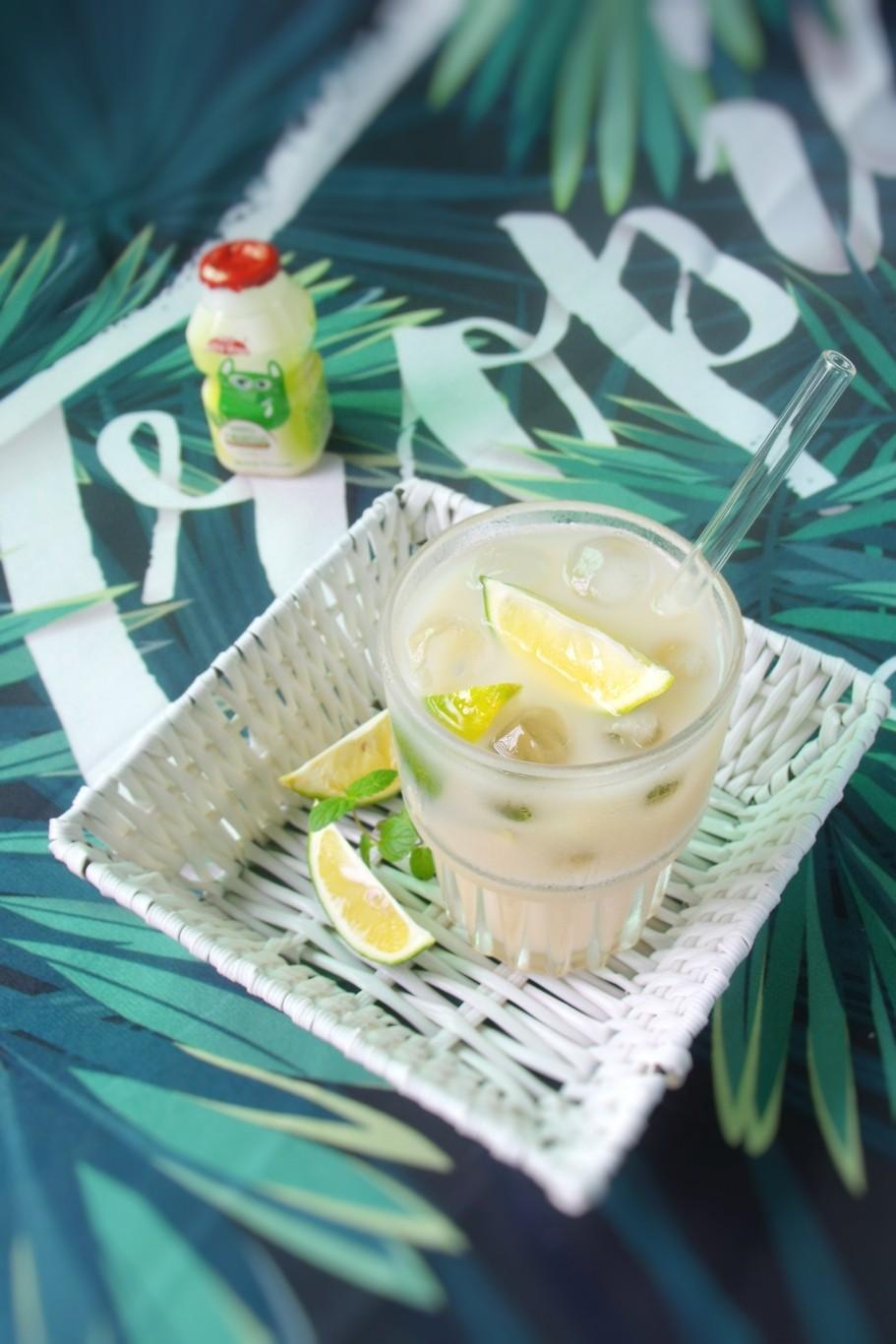 乳酸菌绿茶柠檬饮成品图