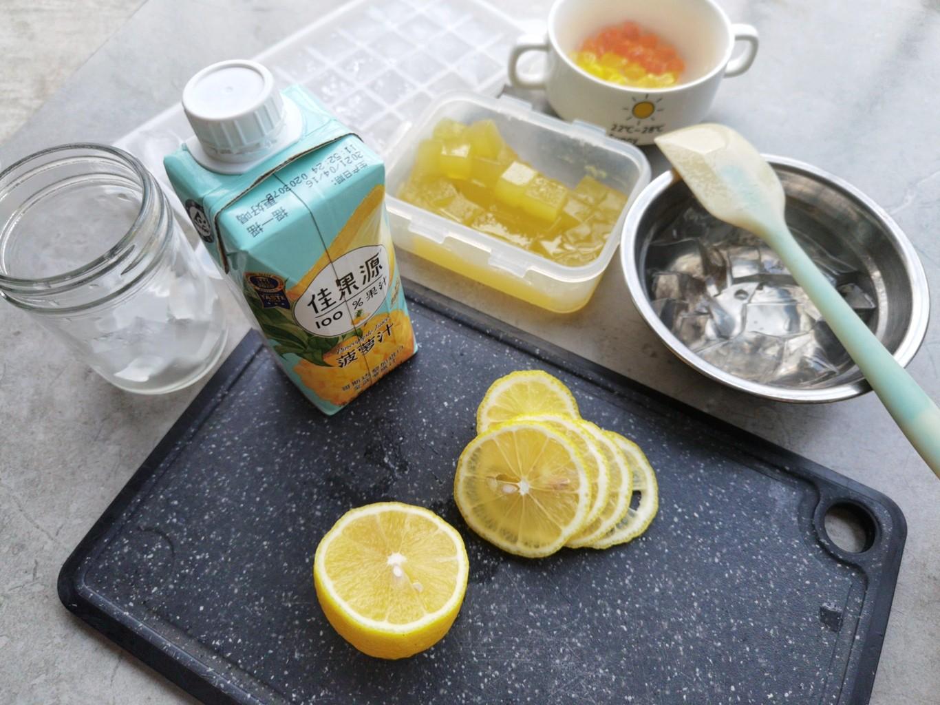 柠香菠啵茶的步骤