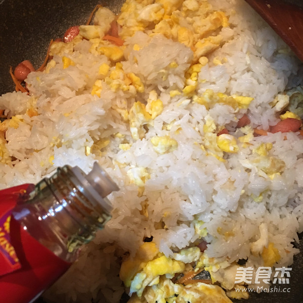 火腿胡萝卜蛋炒饭怎么煮