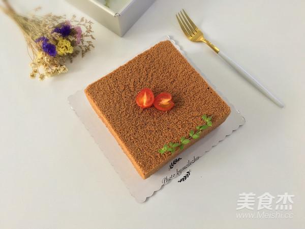 8寸方形可可戚风蛋糕怎样煸