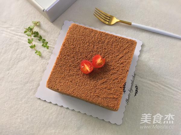 8寸方形可可戚风蛋糕怎样做