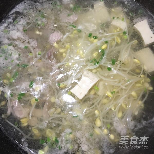 黄豆芽肉片汤怎么煸