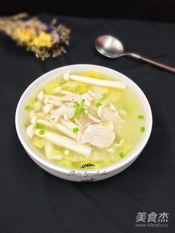 菌菇肉片白菜汤怎样做