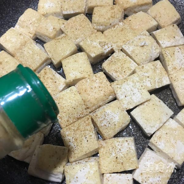 孜然葱花豆腐的家常做法