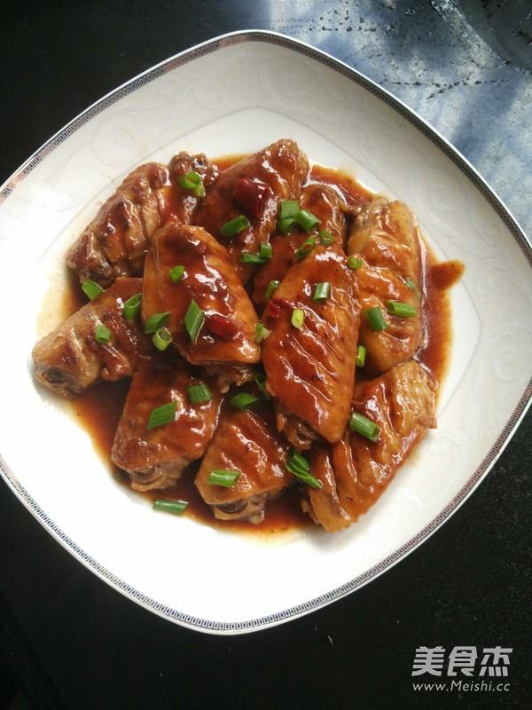 红烧鸡翅成品图