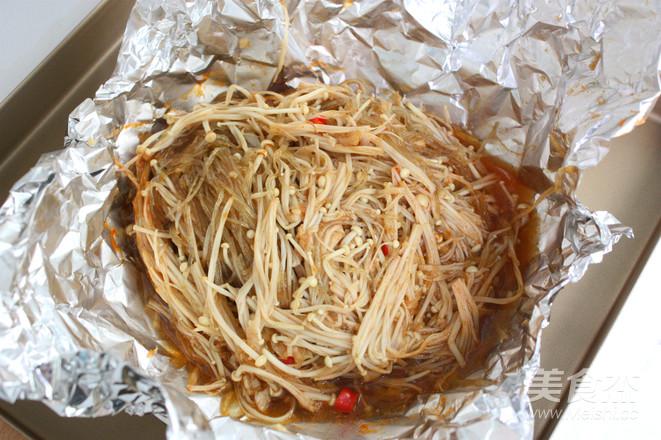 蒜茸烤金针菇怎么做
