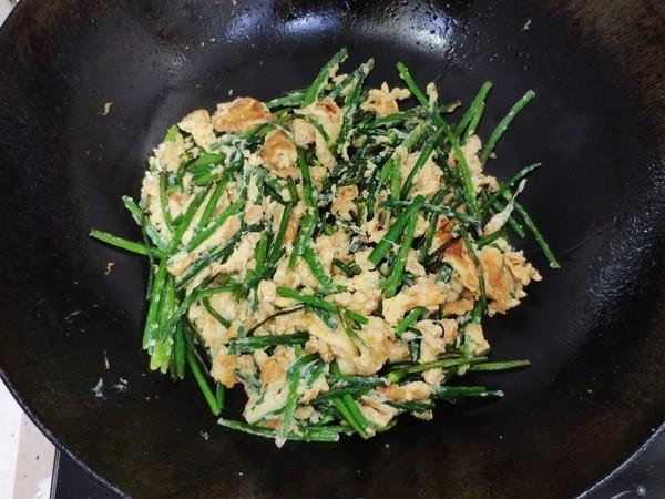 韭菜花炒蛋怎么吃