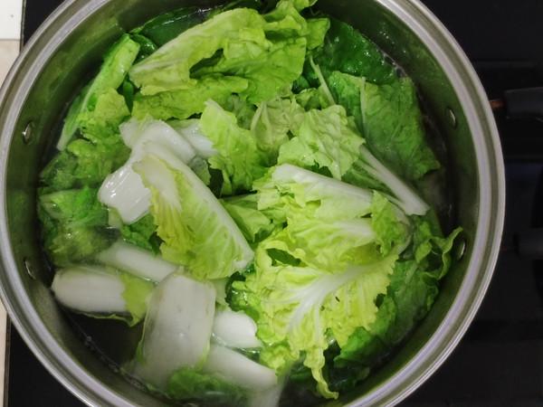 鸡血青菜汤的做法图解