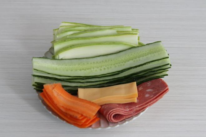 千层蔬菜烘蛋的步骤
