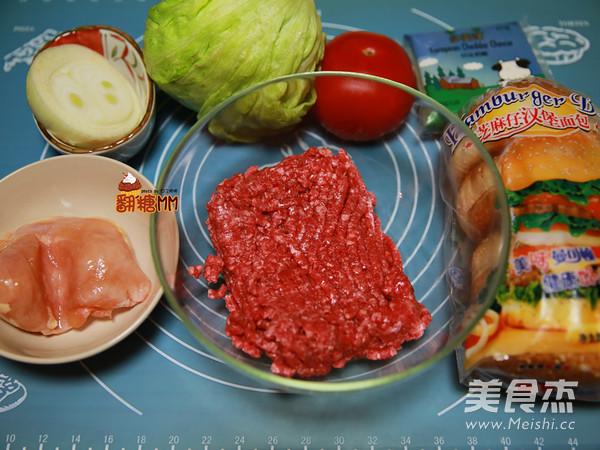 手工牛肉汉堡排的做法大全
