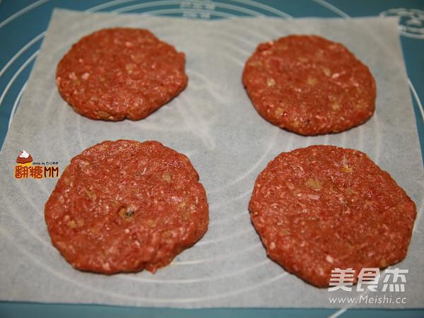手工牛肉汉堡排怎么炒