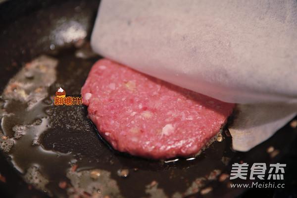 手工牛肉汉堡排怎么炖