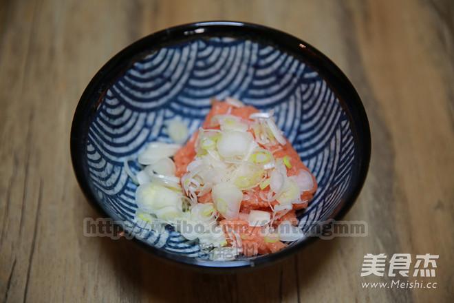 三文鱼葱饭的简单做法
