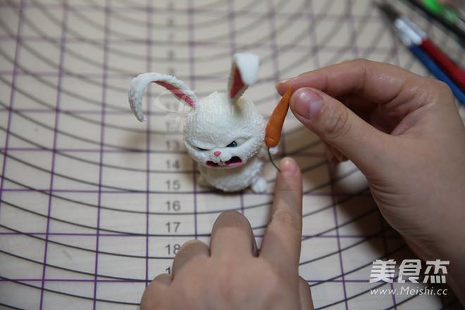 翻糖兔子玩偶制作的做法大全