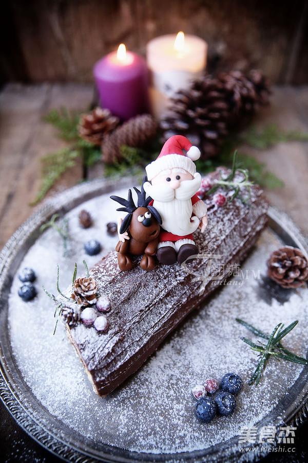 超简单圣诞树根蛋糕卷-超人气菜谱的做法大全