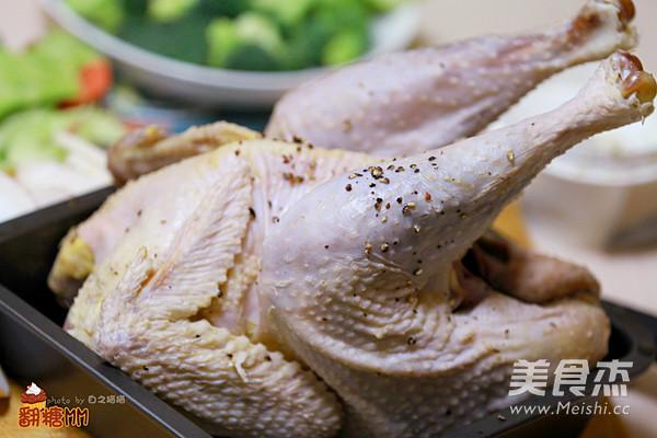 圣诞家庭烤鸡大餐的做法图解