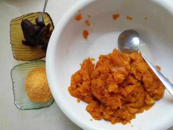 糯米南瓜豆沙包的做法图解