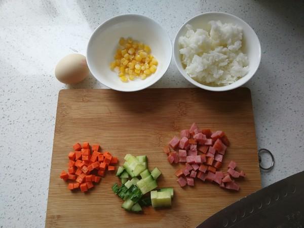 五彩炒饭的做法图解