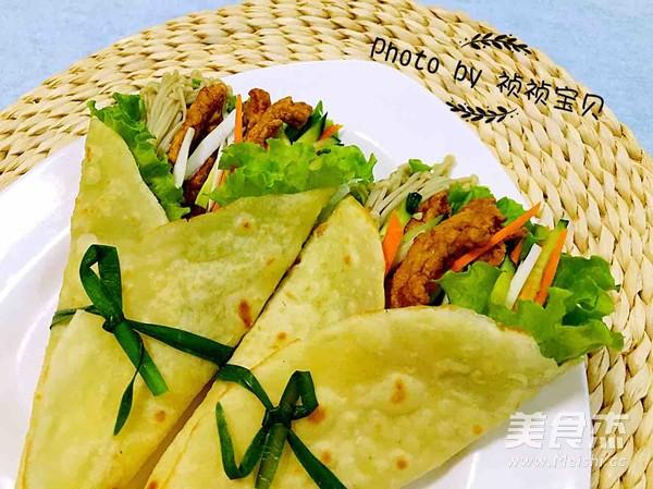 中式墨西哥时蔬鸡柳卷的制作方法