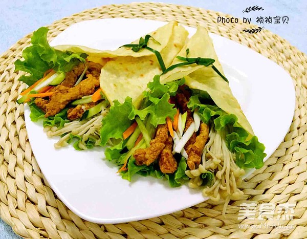 中式墨西哥时蔬鸡柳卷的制作大全