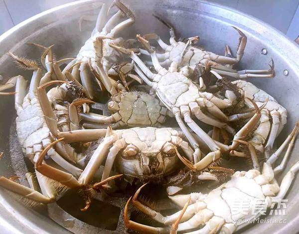 清蒸河蟹的做法图解