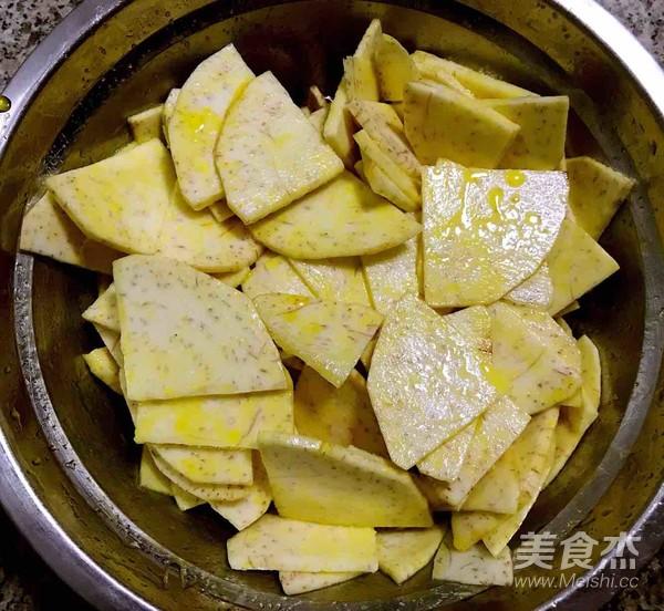 自制烤山芋片的简单做法