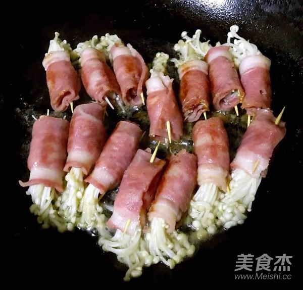 培根卷金针菇怎么吃