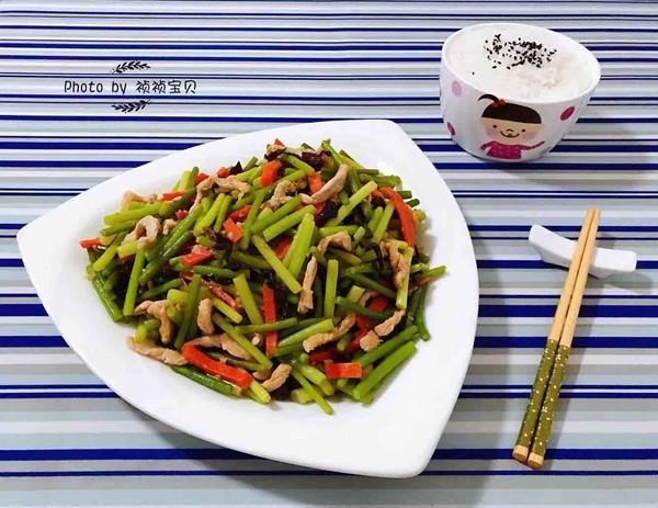 蒜苔炒肉丝怎样做